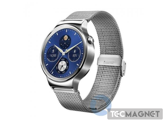 HUAWEI WATCH CLASSIC SILVER WITH STAINLESS STEEL MESH STRAP | 1 | Tecmagnet