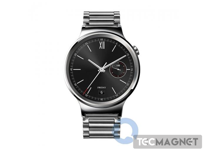 HUAWEI WATCH CLASSIC SILVER WITH STAINLESS STEEL LINK BAND   1   Tecmagnet