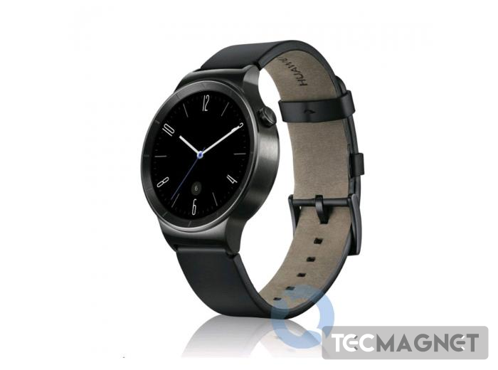 HUAWEI WATCH STAINLESS STEEL WITH BLACK LEATHER STRAP | 1 | Tecmagnet