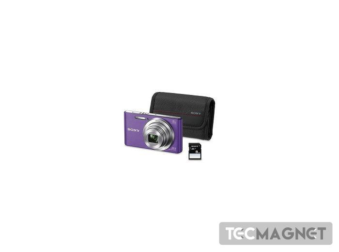 KIT W830 VIOLETA (20.1 MP / ZOOM 8X ) +   1   Tecmagnet